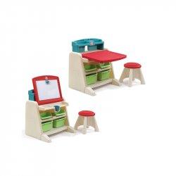 Step2 Zestaw 2w1 Sztaluga i Biurko dla dzieci Kącik plastyczny