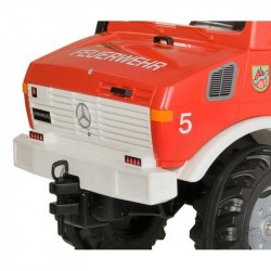 Rolly Toys Unimog Mercedes Benz Samochód na pedały Straż + Kogut