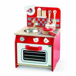Viga Toys Kuchnia Drewniana dla dzieci + Akcesoria