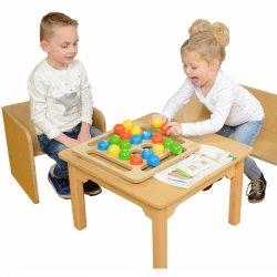 Kolorowe Kulki Drewniana Gra Dla Dzieci Masterkidz