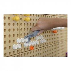 Kolorowe Śrubki Do Tablicy Kreatywnej Naukowej Masterkidz 512 Sztuk Mix Kolorów