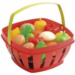 Ecoiffier Czerwony Koszyczek Z Owocami i Warzywami