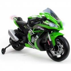 INJUSA Kawasaki Ninja Motor Na Akumulator 12V MP3 Światło Pompowane Koła