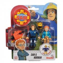 Simba Strażak Sam 2 Figurki Akcesoria Sam i Norman