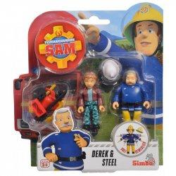 Simba Strażak Sam 2 Figurki Akcesoria Derek i Steele