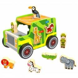 TOOKY TOY Drewniany Jeep Safari Sorter Samochód