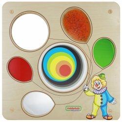 MASTERKIDZ Tablica Sensoryczna Edukacyjna Balon do wizualnego treningu