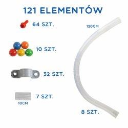 MASTERKIDZ System Rur Do Tablicy STEM 121 elementów