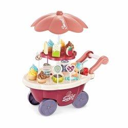 WOOPIE Sklep Food Truck Cukiernia Wózek Stoisko z Lodami Słodyczami Dźwięk Światło + 36 Akc