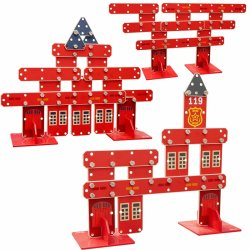 CLASSIC WORLD Ogromne Klocki Konstrukcyjne Drewniane Zestaw Straż Pożarna