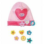 Baby Born Czapeczka z przypinkami dla lalki 43 w kolorze różowym
